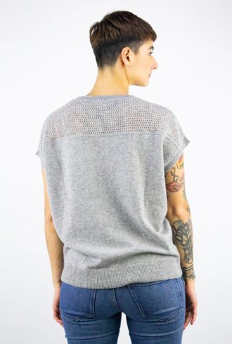 360 Sweater Britt Short Sleeve Pullover Heather