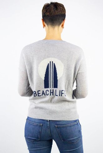 360 Sweater Beach Life Pullover Powder Grey