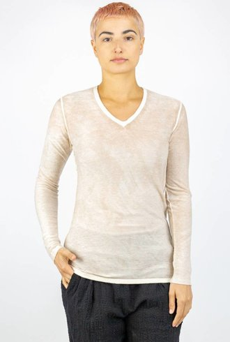 Kokun Overdyed Fitted V-Neck