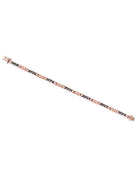 KISMET Beads Single Row Bracelet Rose Gold