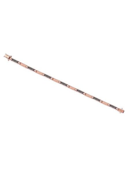 KISMET Beads Single Row Bracelet Rose Gold