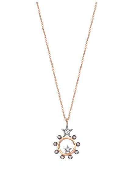 KISMET Beyond Circle Necklace Rose Gold