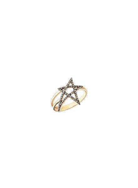 KISMET Struck Doodle Star Pinky Ring Rose Gold