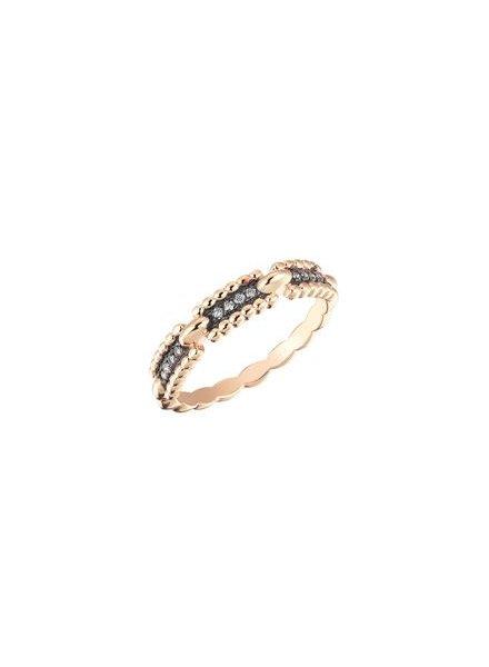 KISMET Beads Single Row Ring Rose Gold