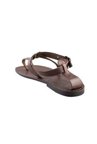 Local Menton Leather Sandals Dark Brown