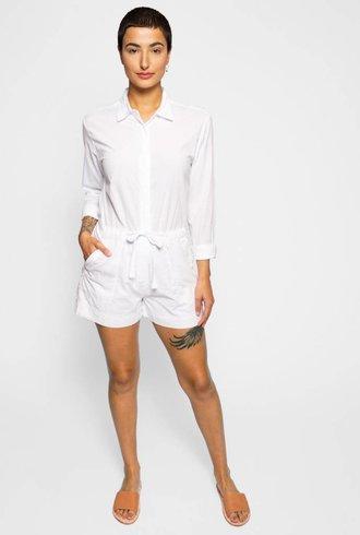 Xirena Georgie Cotton Poplin Jumpsuit White