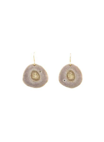 Renee Garvey Shed Antler Slice Earrings