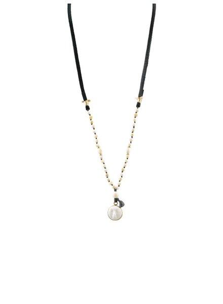 Renee Garvey Carved Moonface Necklace