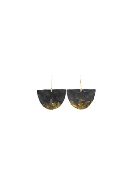 Sarah McGuire Gilded Half Moon Earrings