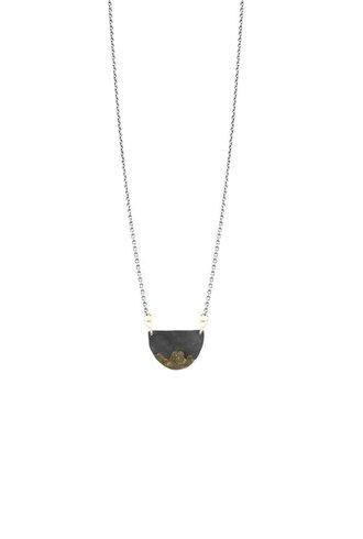Sarah McGuire Gilded Half Moon Necklace