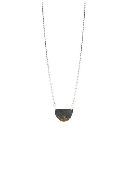 Sarah McGuire Gilded Half Moon Necklace