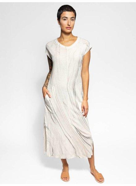 Raquel Allegra Muscle Tee Dress Smoke Marble