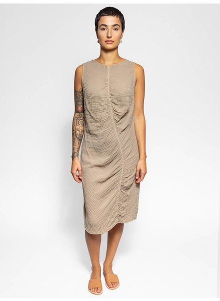 Raquel Allegra Column Dress Taupe