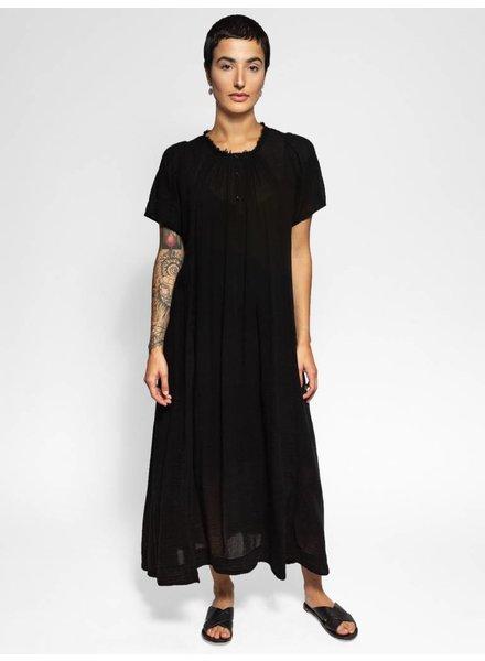Raquel Allegra Flutter Maxi Dress Black