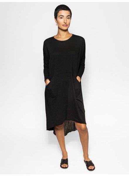 Raquel Allegra Oversized Dress Black