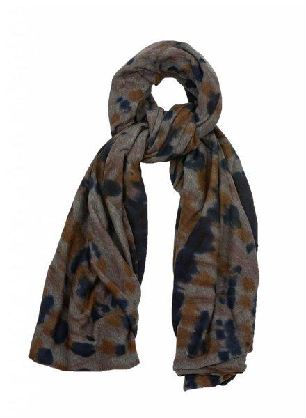 Raquel Allegra Convertible Scarf Black Tiger Tie Dye