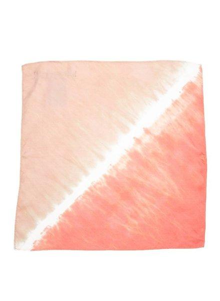 Raquel Allegra Twill Neckerchief Pink Sands Tie Dye