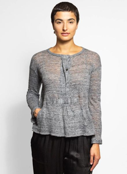 Inhabit Linen Seacoast Pullover Marine