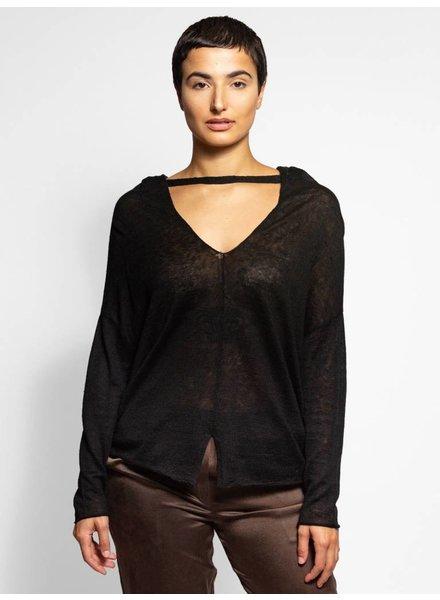 Inhabit Multi-way Drape Pullover Black
