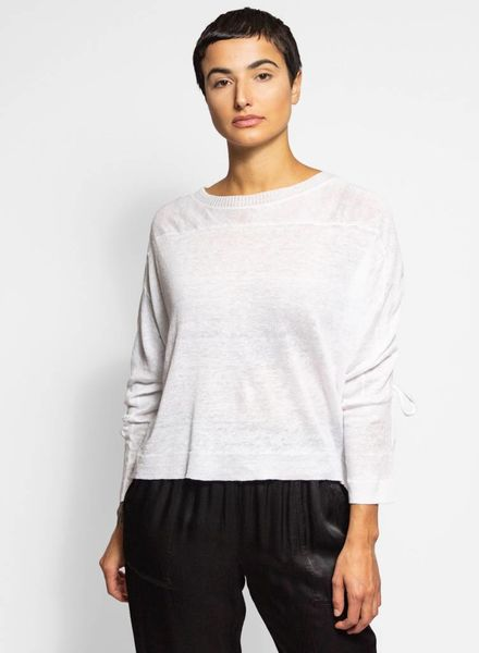 Inhabit Drawstring Back Pullover White