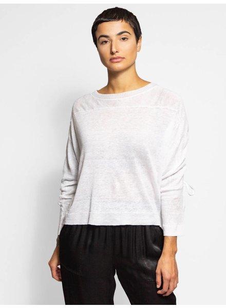 Inhabit Drawstring Back Pullover White