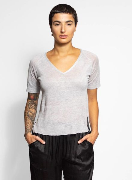 Inhabit Linen Essential Tee Cairn