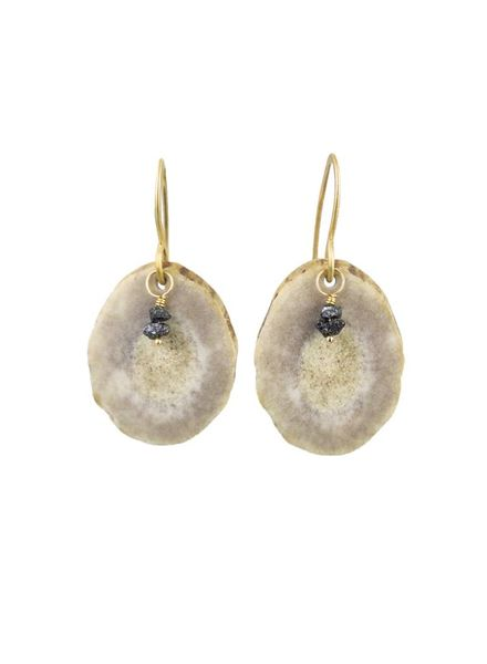 Renee Garvey Medium Shed Antler Slice Earrings