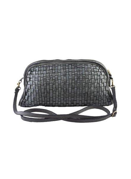Majo Small Leather Bag Light Black