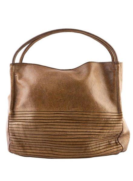 Majo Leather Hobo Bag Honey