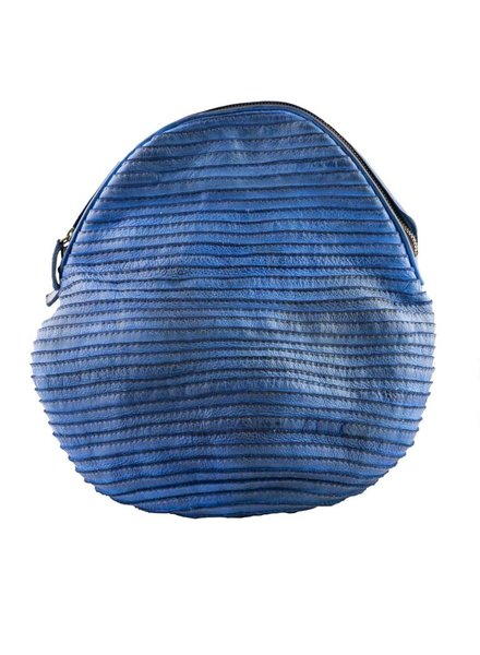 Majo Leather Backpack Blue Raw