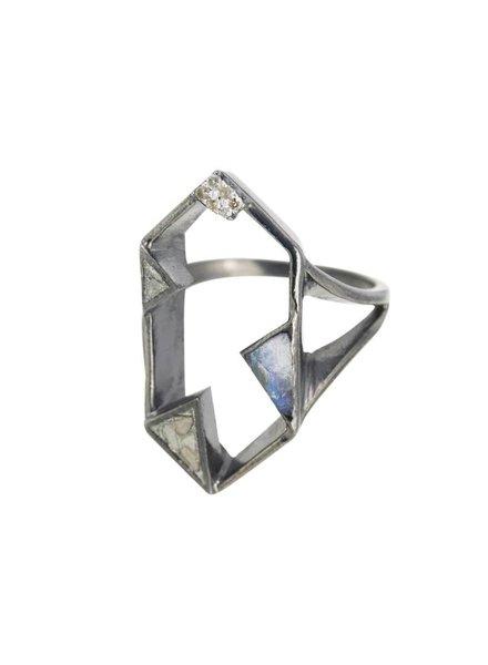 Shana Gulati Aven Ring Silver Clear