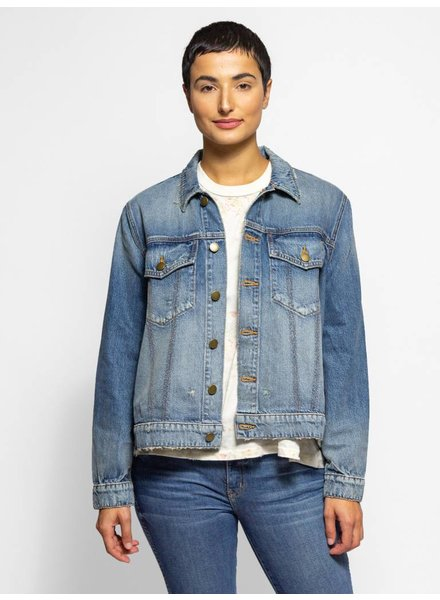 The Great The Boxy Jean Jacket Prairie Wash Hearts