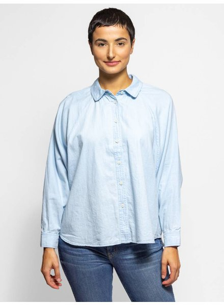 The Great The Estate Button Up Cornflower Blue