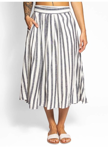 Trovata Jenna Wrap Skirt Black & White Stripe