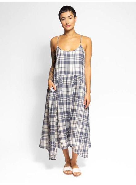 Trovata Nightingale Dress Slate Plaid