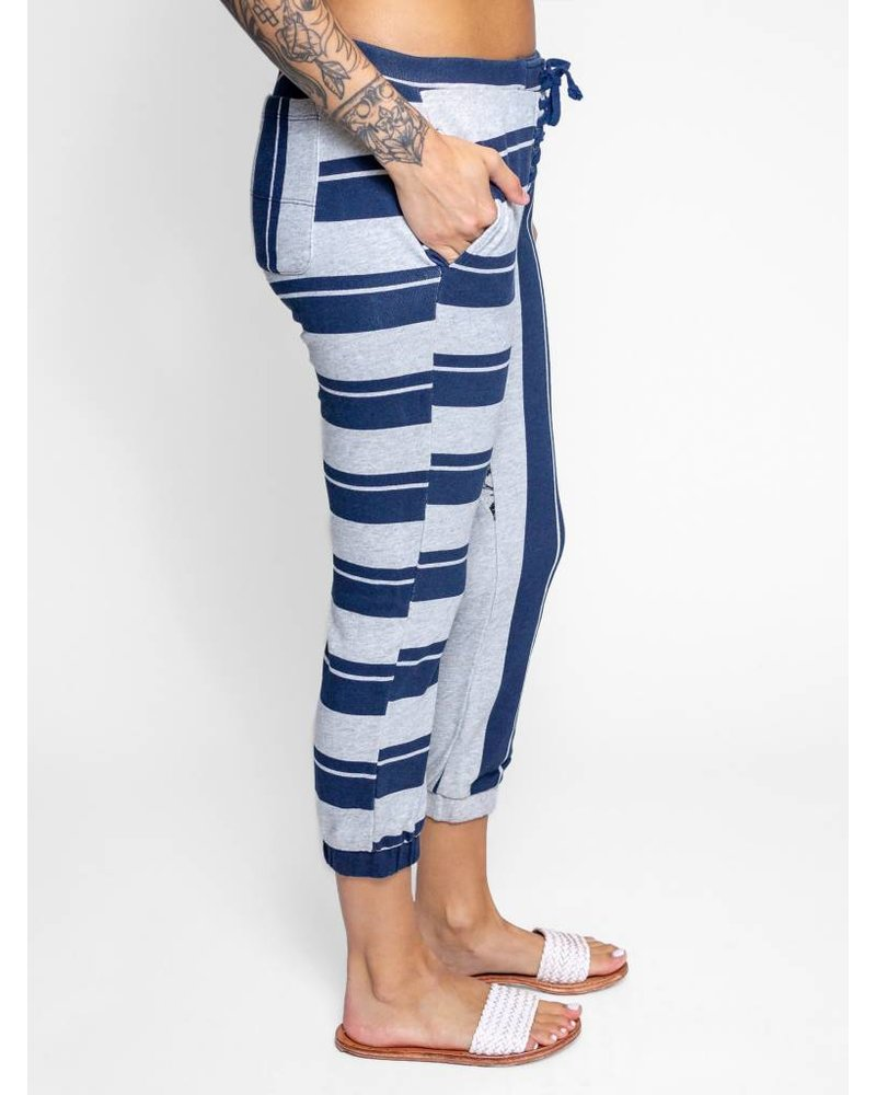 NSF Dru Stripe Sweatpants Heather