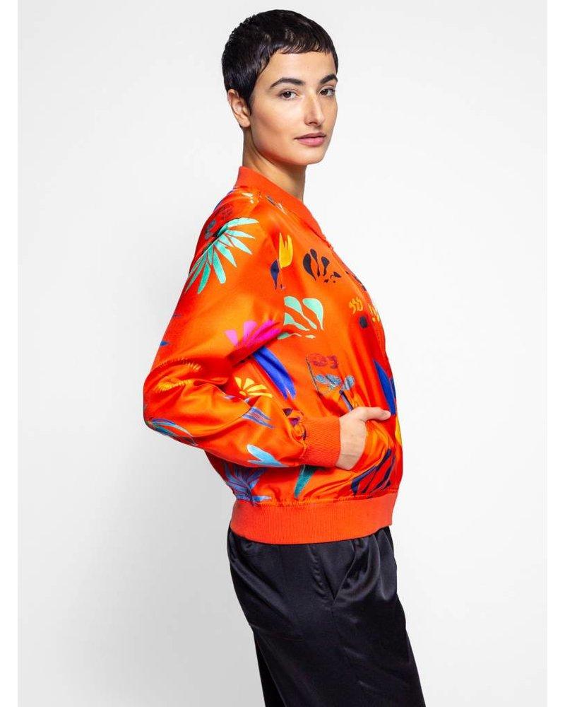 G Kero Tangerine Silk Jacket