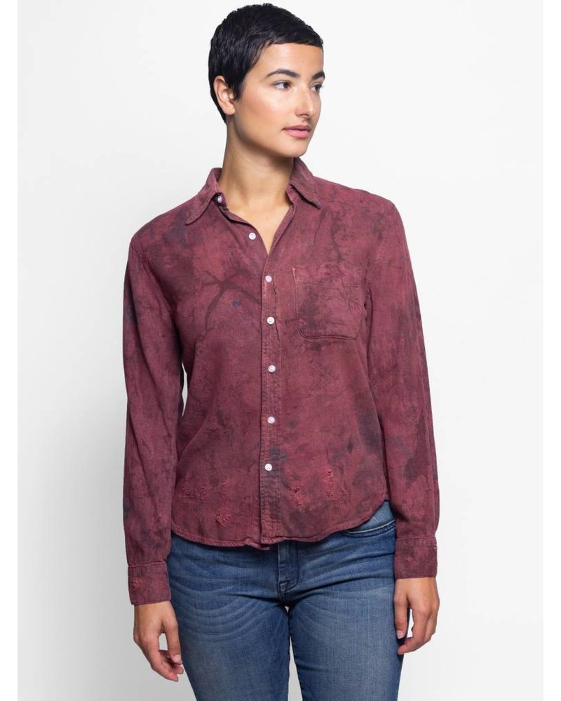 NSF Axel Stained Shirt Red/Navy