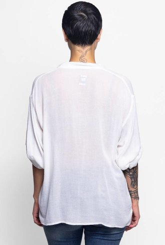 NSF Layla Relaxed Pocket Top Soft White