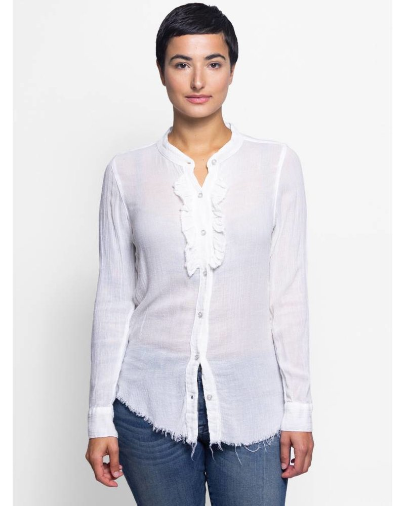 NSF Jacques Gauze Ruffle Shirt Natural