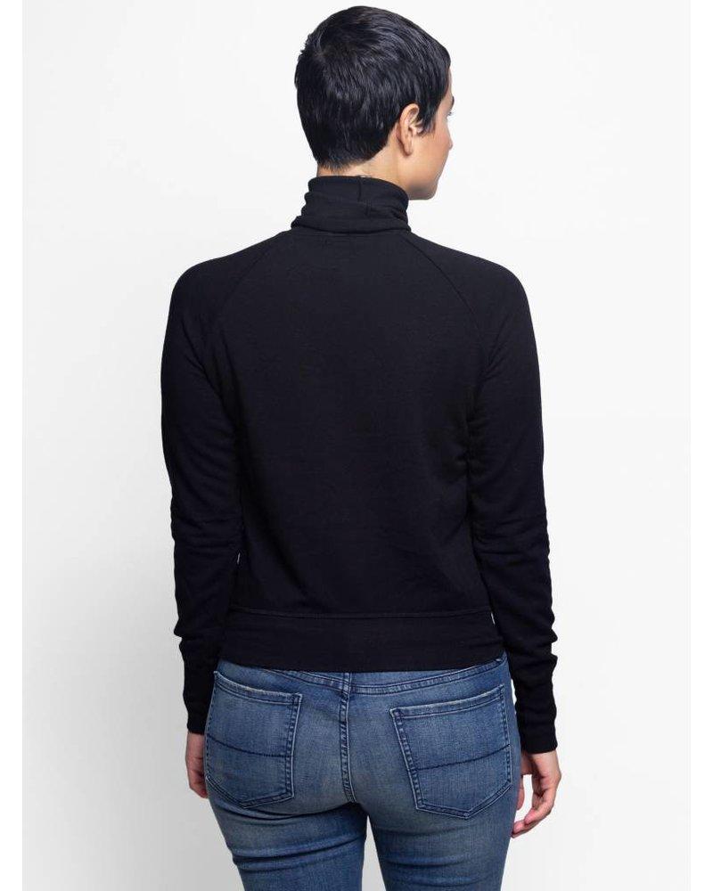 NSF Huldah Fleece Turtleneck Black