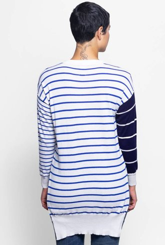 NSF Bryn Mix Stripe Sweater Chalk/Navy