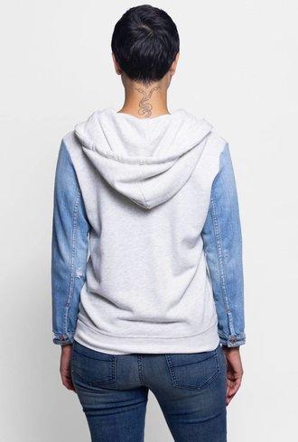 NSF Gretchen Zip Up Hoodie Sweater Light Heather