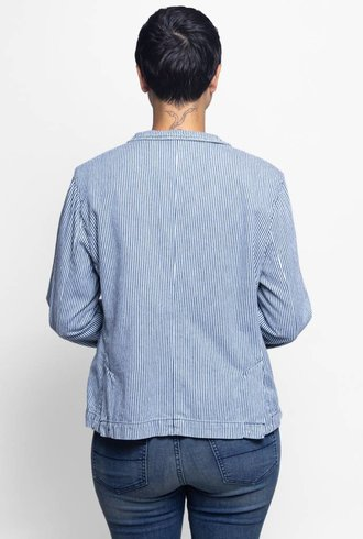 NSF Blair Stripe Denim Blazer