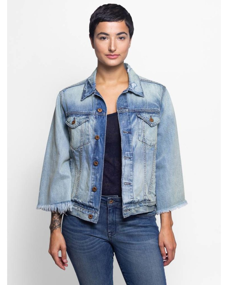 NSF Cliq Cropped Denim Jacket