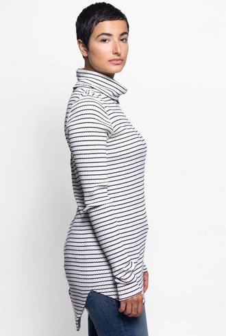 NSF Jacqui Stripe Turtleneck White & Black