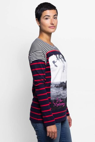 NSF Lupe Mix Stripe Photo Tee Monterey