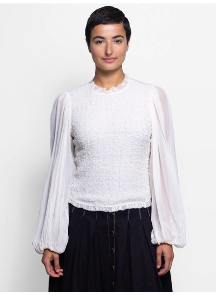 Ulla Johnson Chandra Blouse Pearl