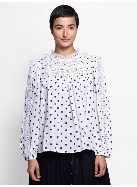 Ulla Johnson Bailey Blouse Blanc