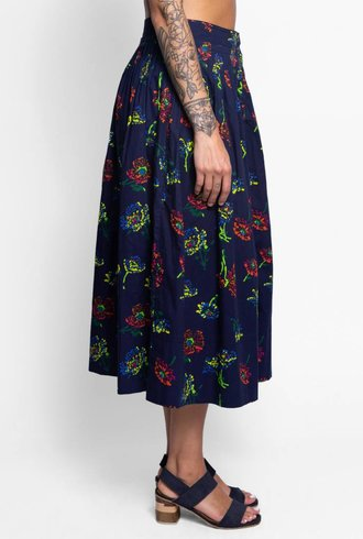 Ulla Johnson Katriane Skirt Midnight Floral
